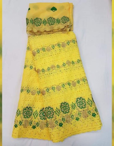 Latest African Dry Cotton Lace Embroidered Morccon Designer Dress Material
