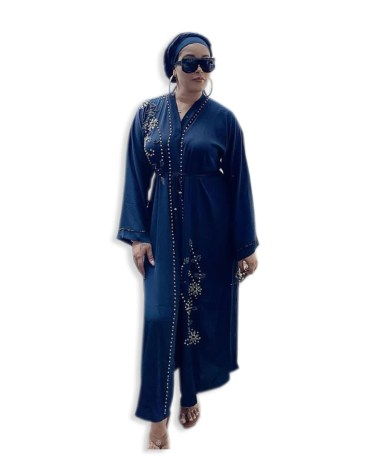African Women Stylish Abaya Beaded Moroccan Dubai