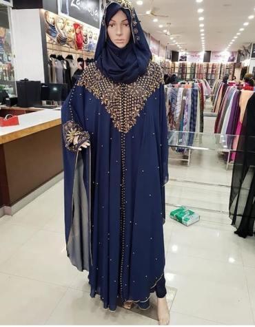 Dubai Abaya Rhinestone Work on Dress For Women Party wear Chiffon Kaftan