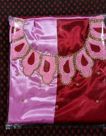 Unique Attire Formal Evening Beaded Satin Silk 2 Color Satin Silk Dress Material For Women