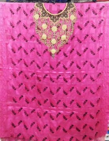 Latest Premium Swiss Voile Designer Cotton Piece Dubai Embroidery Dress Material For Women