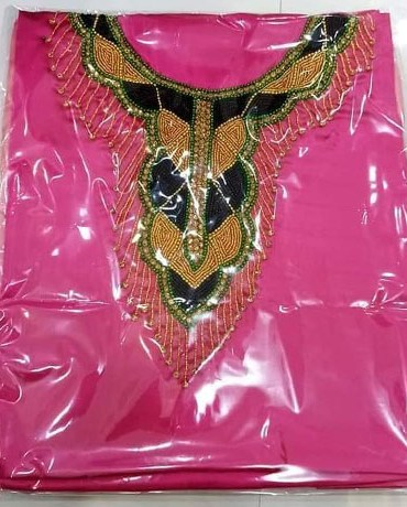 African New Style Designer Satin Silk Fancy Party Wear Dress Material For Women
