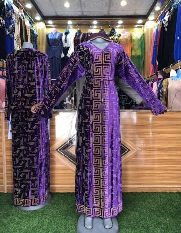 Unique Design Dubai Kaftan for women Party Wear Rhinestone Work On Dress For Women