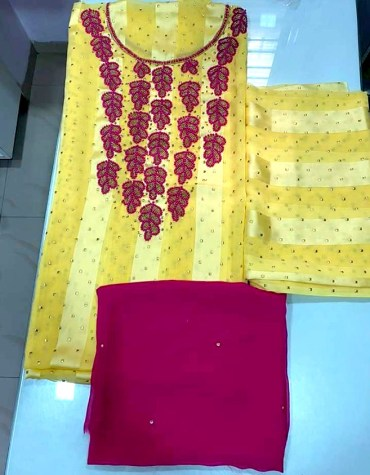 African Attire Satin Silk Evening Party Wear 3 Piece Rhinestone Work Dresses for Women