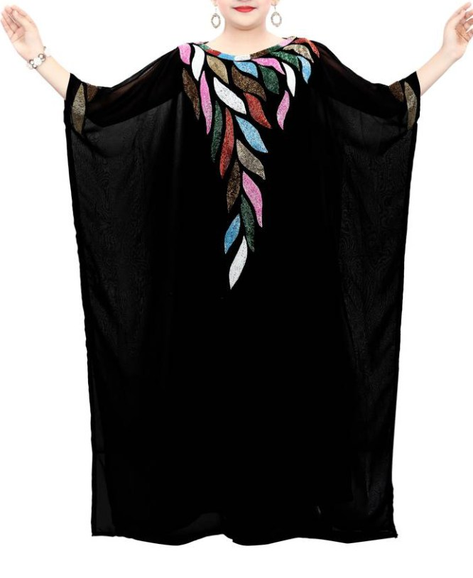 African Attire Best Trend Party wear dubai kaftan With Multi Color Bead for kids