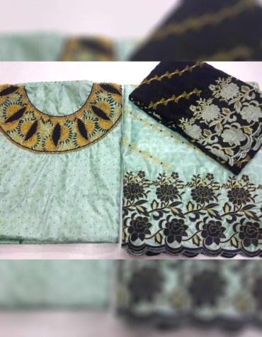 Designer And Wedding Attire Satin Fancy Dresses Material Wear For Women