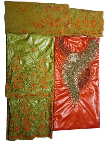 New Trendy 100% Super Magnum Gold Getzner Bazin Dress Material