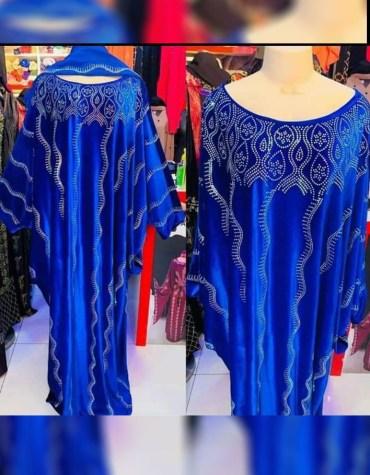 Latest Fashion Dubai Kaftan for women Party Wear Rhinestone Work On Dress