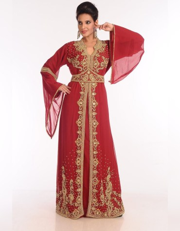 African Attire long Sleeve Party Wear Kaftan Embroidery Wedding Gown For Women