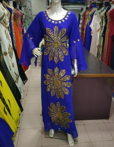 Formal Wedding Embroidery With Multi Color Stone Kaftan Dresses For Women