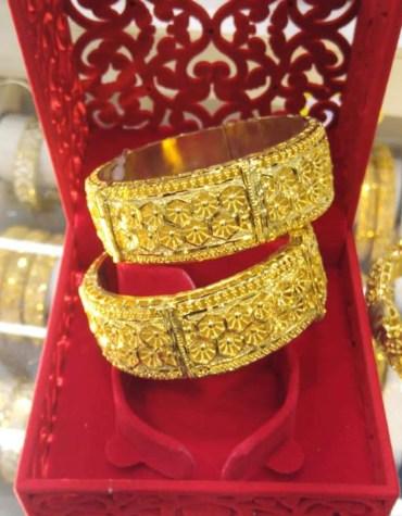 Arabic Style Elegant Bangles Party Wear Jewelry For Women