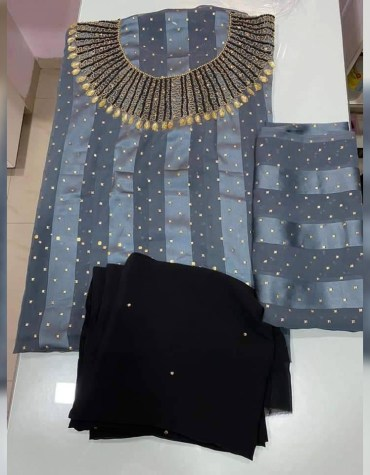 African Style Dress Material for Women Traditional Party Unique Arabic Design