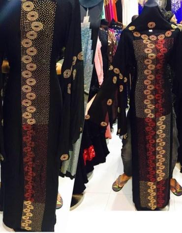 African Attire Million Rhinstone Hand Work For Women Moroccan Party Wear Dubai Abaya