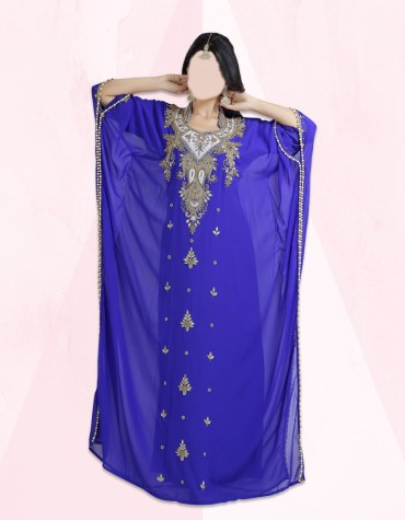 New Gold Embroidery African Evening Gown Long Abaya Caftan Dresses for Women