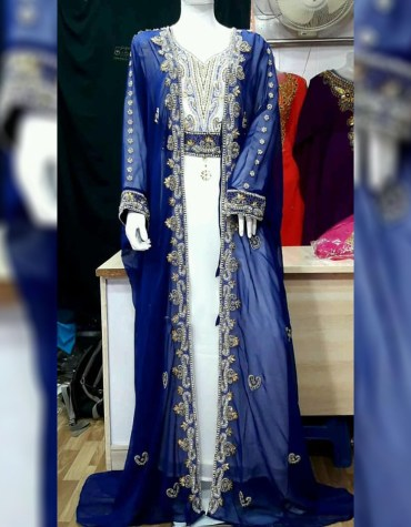 New Trendy Embroidery with Caftan Dresses for Women Party Wear Abaya Dubai Kaftan