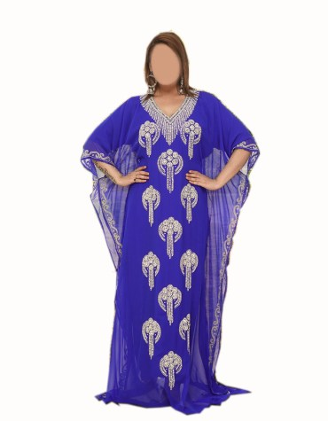 New Trendy Gold Embroidery African Evening Gown Long Abaya Caftan Dress for Women