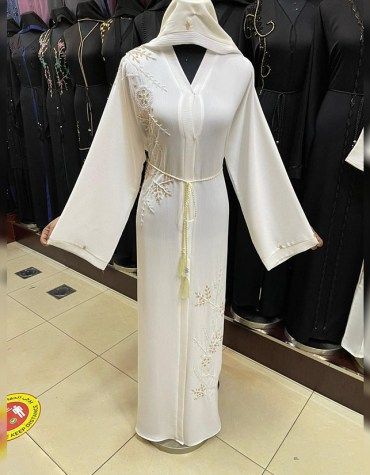 Premium Attire Formal Abaya With Embroidery And Long Sleeve Moroccan Dubai For Women