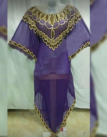 Elegant Beach Cover up Evening Party Wear Handmade Abaya Women Dubai Cape Kaftan