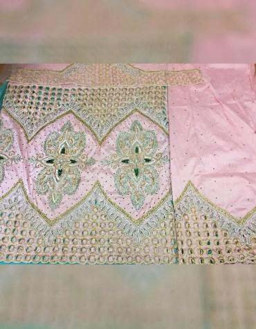 Nigerian Bridesmaid Beaded Wrapper Taffeta George Fabric Dress Material For Women