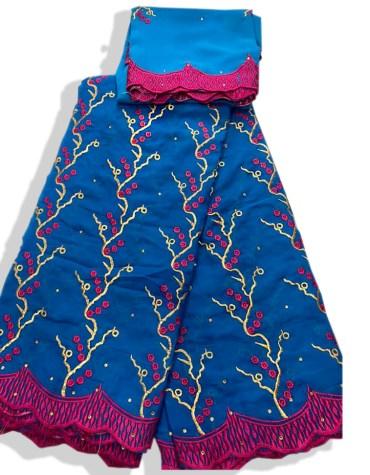 New Fashionable Fancy Swiss Voile Designer Cotton Piece Dubai Embroidery Dress Material