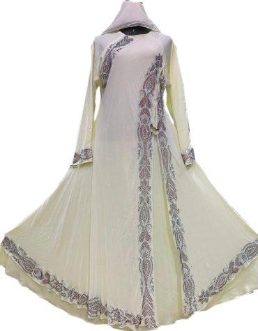 Elegant Fashionable Morrocan Beaded Chiffon Kaftan For Women