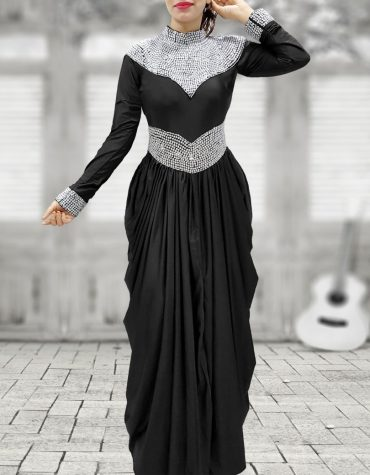 African Attire Moroccan Beaded Modest Bridesmaid Prom Lycra Caftan Dresses for Women