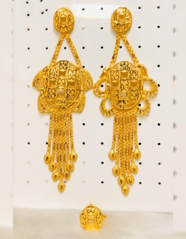 Trendy Elegant 2 Gram Gold African Earring Set For Party Or Casual Outgoing.