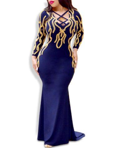 Latest Trendy African Criss-Cross Designer Mermaid Prom Dresses For Women