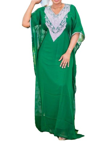 African Attire Latest Fancy Stylish Heavy work Dubai Chiffon Kaftan For Women