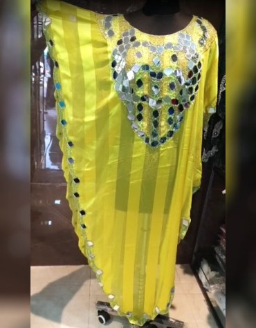 African Attire Party Wear Evening Beaded Poncho Dubai Kaftan For Women