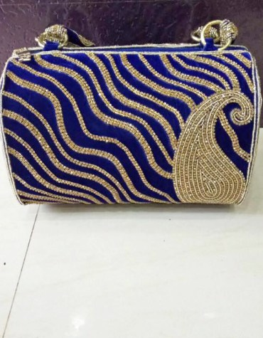 African New Fashionable Golden Work Party 2021 Handbag and for Women