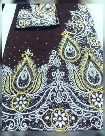 New Classic Nigerian Designer Heavy Beaded George Wedding Dress For Women