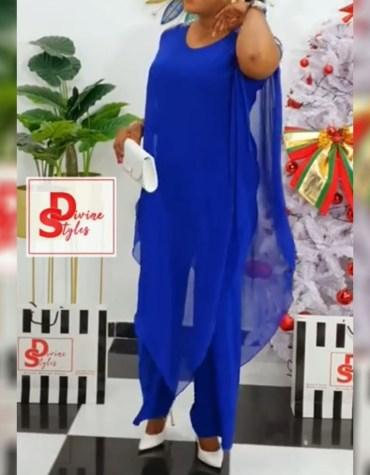 African Latest Chiffon Kaftan Design Dress Evening & Party Wear For Women