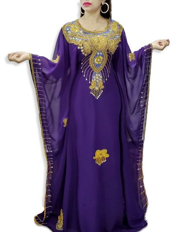 African Long Sleeve Plus Size Beaded Moroccan kaftans Dresses for women