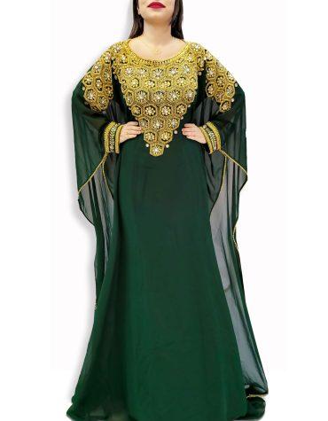 Designer Embellished Wedding Party Moroccan Dress Party Wear Dubai Kaftan for Women