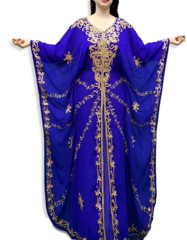 New Trendy Collection Style Elegant Embroidery with Stone Dresses Kaftan For Women