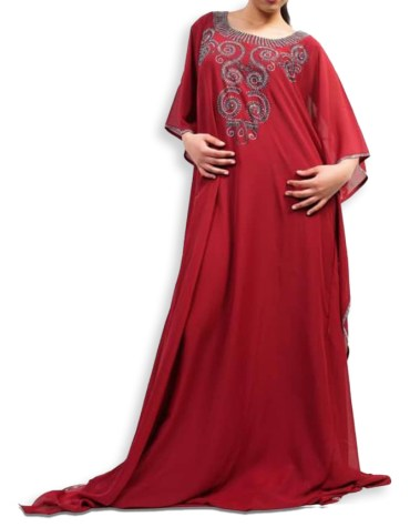 Elegant Kaftan Dresses for Women Long Sleeve Formal Maxi Gown Evening African Dress