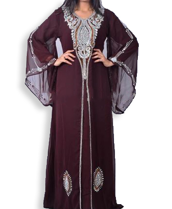 Elegant African Attire Evening Golden Beaded Dubai Kaftan Designed for Women
