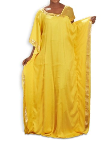 Trendy Moroccon Kaftan Abaya Simple Lace Work From African Attire Dresses for Women