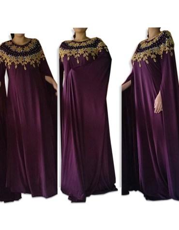 Latest trending floor touch Full Sleeves Moroccan Beaded Women's Lycra Kaftan For Party & Wedding