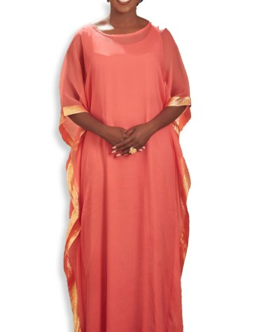 Dubai Kaftan Jalabia Abaya Simple Lace Work From African Attire Dresses for Women