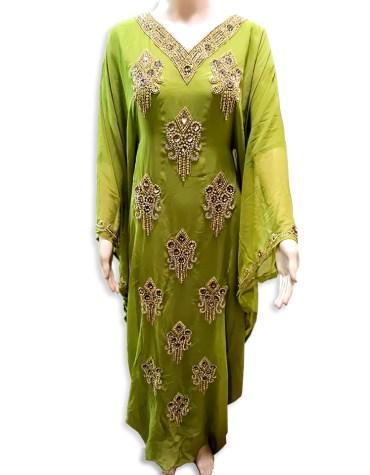 Classic Elegant Designer Style With Beaded And Zari Work Chiffon Kaftan For Women
