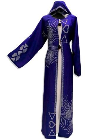New Brilliant Long Sleeve Rhinestone Work Kaftan Dubai Beaded Dresses For Women