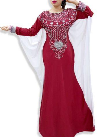 Designer Wedding Dress Fancy Kaftan Arabian Jalabiya Moroccan Beaded For Women