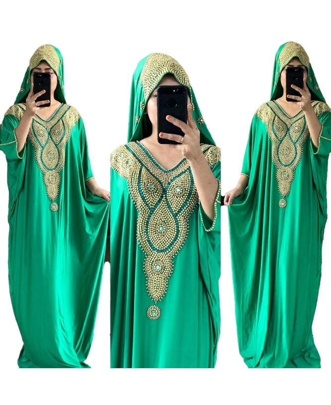 African Moroccan Kaftan Muslim Wedding Plus Size Formal Dubai Abaya for Women