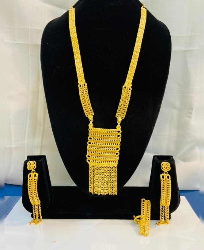 New Trendy Square Shape Necklace Set For Party or Formal Wear African Jewellery Set For Women