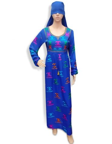 African Stylish Embroidered Women Party Wear Long Stitched Exclusive Rayon Gown