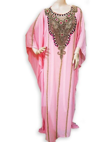 African Attire Kaftan Jalabia Mix Stone Beaded Dresses Wedding for Women