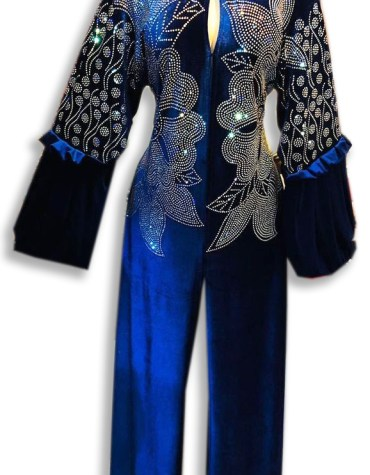 African Abaya With Silver beaded And Rhinestones Fancy Moroccan For Women