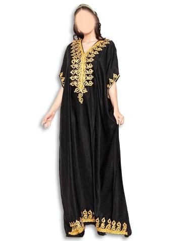 African Design Collection Abaya Long Maxi Beaded Dubai Kaftan for Women